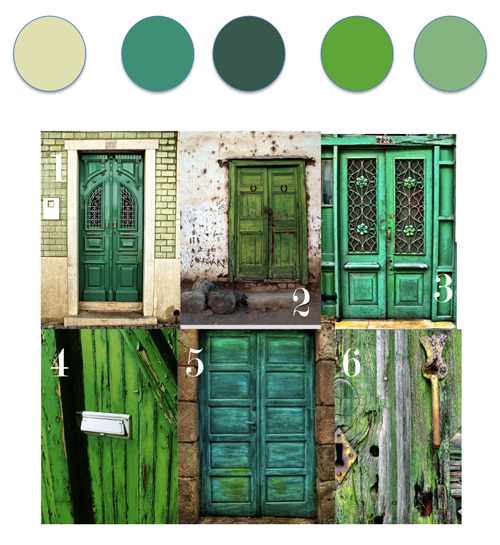 feng shui colours your west front door