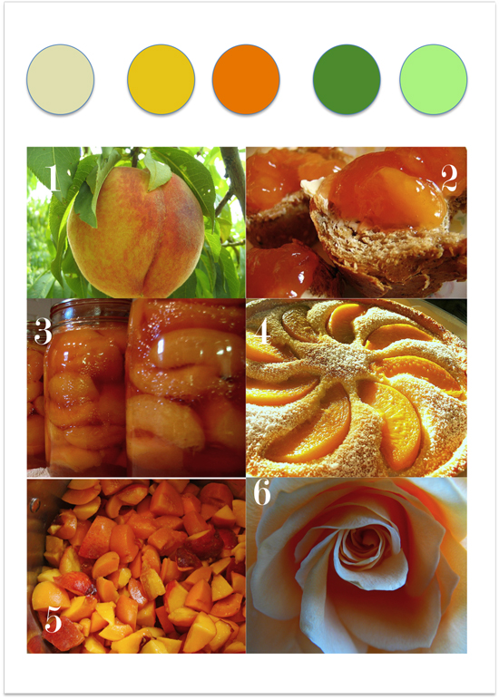 colour story peaches