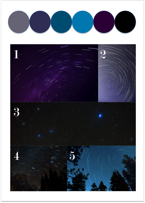 night sky colour story