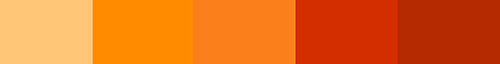 Orange energy palette