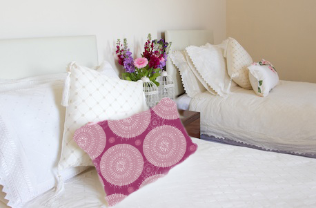 Surface Pattern Design bedroom mock up situ