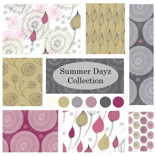 Surface Pattern Design Collection floral room mock ups