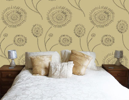 Surface Pattern Design wallpaper mock up situ