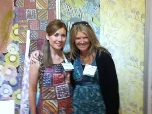 Surface pattern designer Rachael Taylor and Louise Gale at Top Drawer
