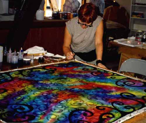 Silk painting weekend with Master Silk painter Sissi Siska