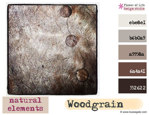 Surface Pattern Design Creative Color Challenge October Natural elements wood grain