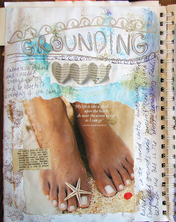 grounding journal page