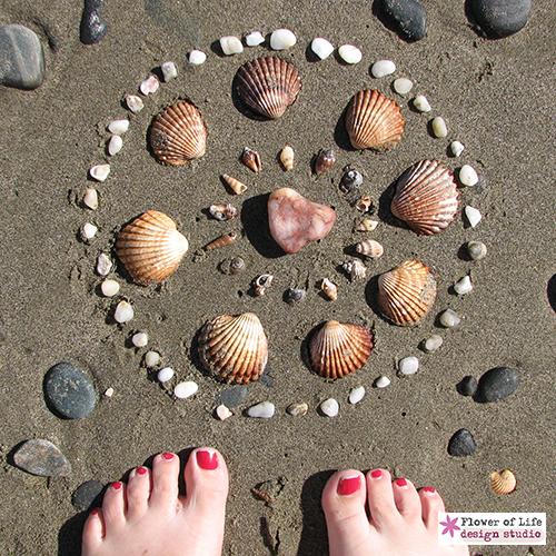 mandala, nature, stones, beach, ocean, sacred, circle,