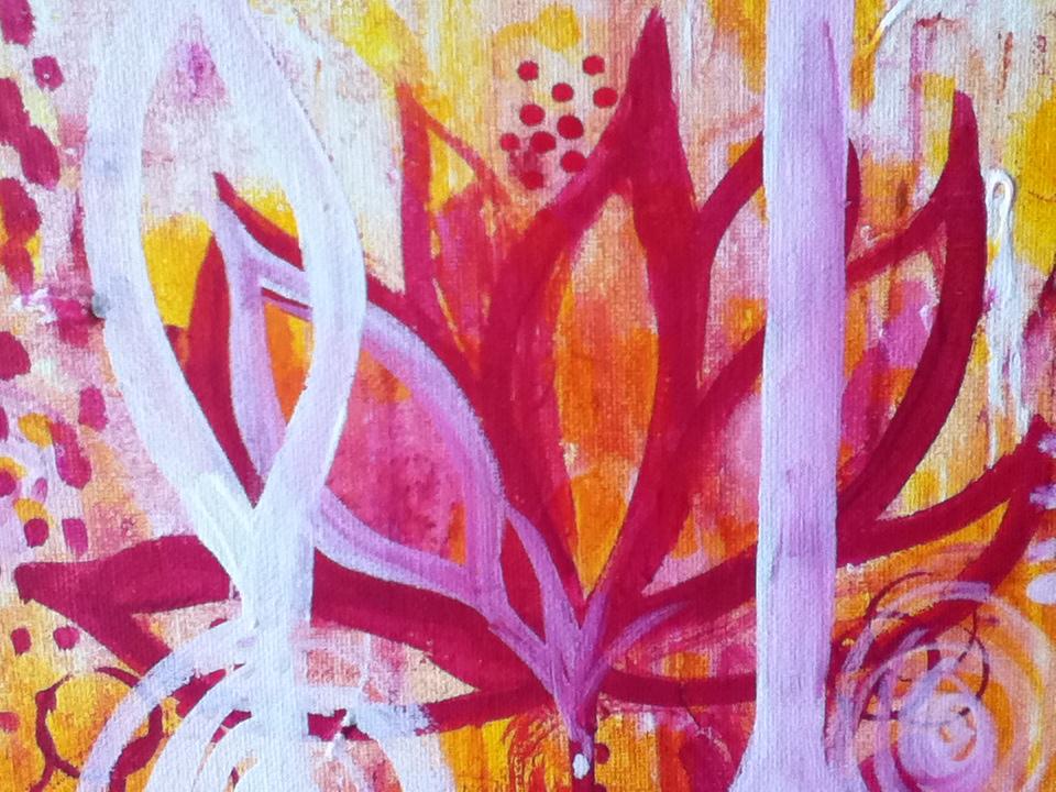pink & yellow lotus