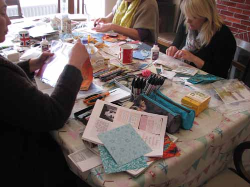 Retreat, creative gatherings, book making, art