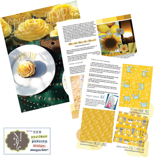 Moyo magazine - yellow colour stories, surface pattern design