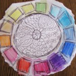 Color wheel love, red, orange, yellow, green, blue, indigo, violet