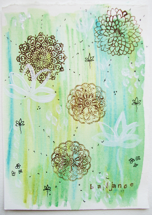 green mixed media color artist, paper, print, colour