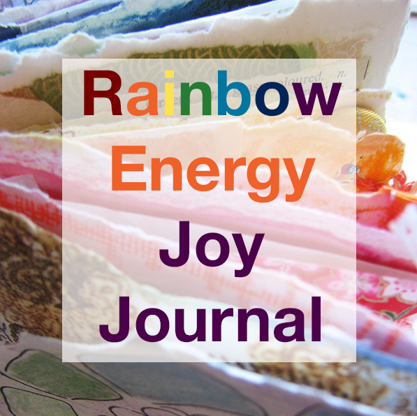 rainbow, colour, color energy, chakra, journal, book, handmad