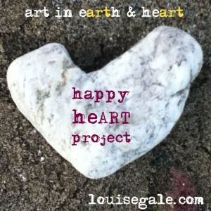 happy heart project - art from the heart, mixed media, color, surface pattern