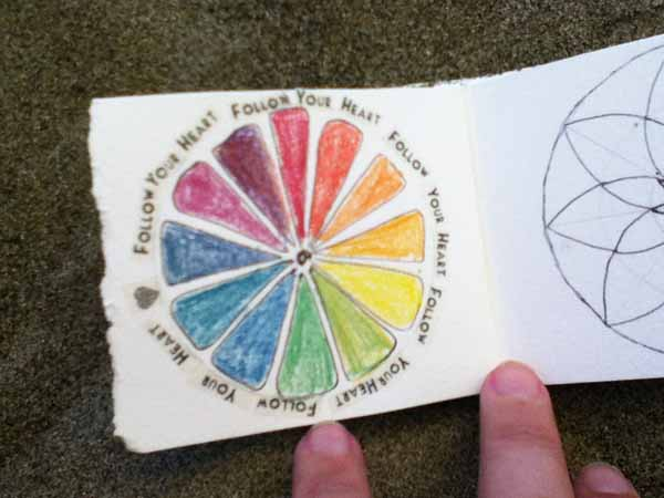 mandala, draw, book, sacred circle