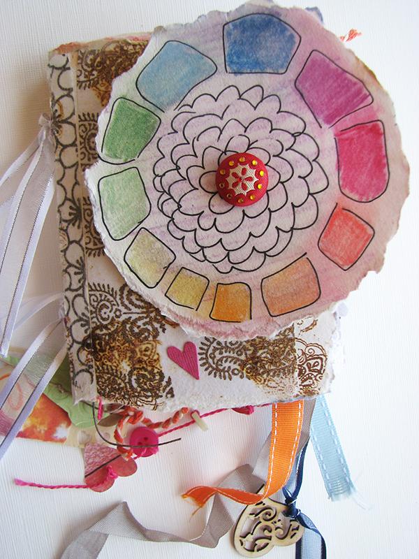 handmade colour, color energy book, journal, rainbow,