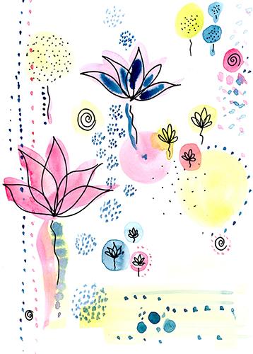 Colour energy paintings, mixed media artist, chakra, meditation, lotus