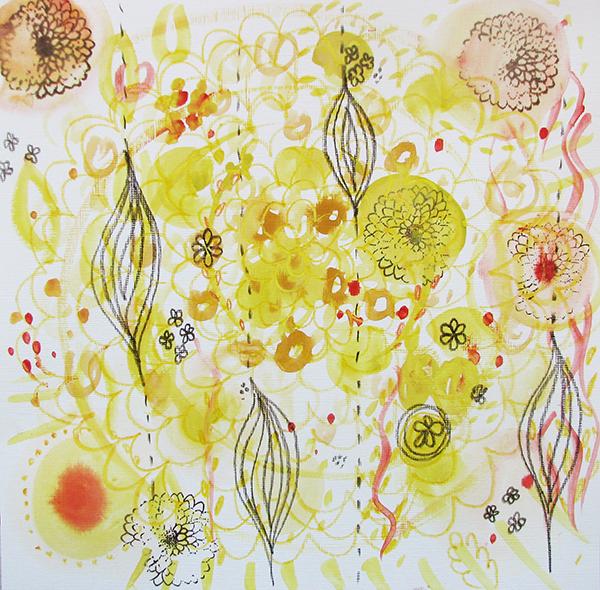 Yellow energy painting, solar plexus