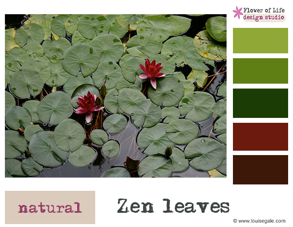 zen leaves, color story, colour palette