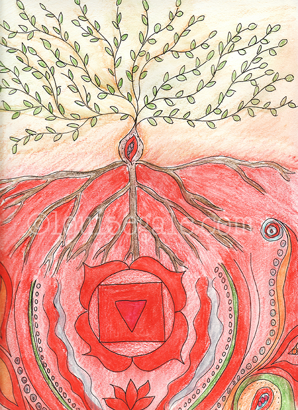 base chakra red drawing ©Louisegale