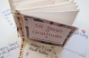 book & pages 30 days of gratitude