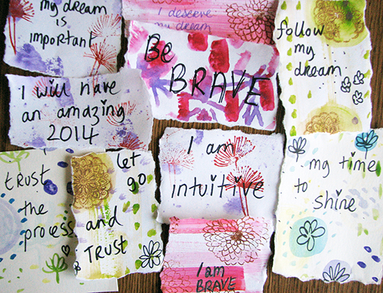 intention cards ©Louise Gale