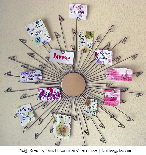Intention statement cards {creative fun} #vision2014 #bigdreamssmallwonders