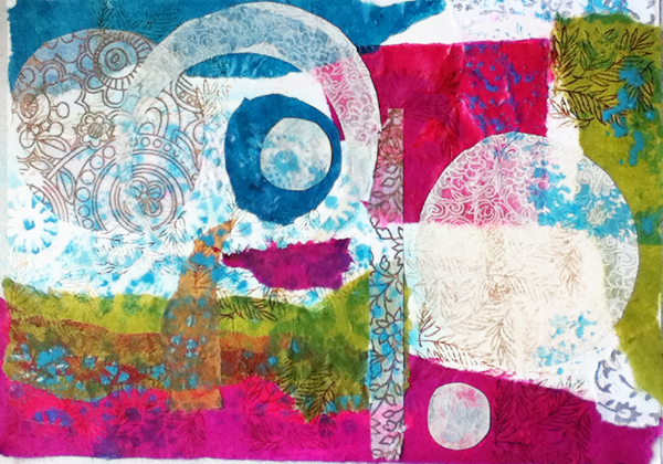 Getting back into the groove – new work emerging {paper, color and pen}