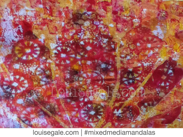 sacral chakra solar plexus yellow orange mixed media mandala