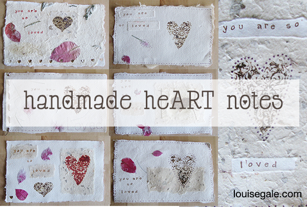 Handmade heART notes