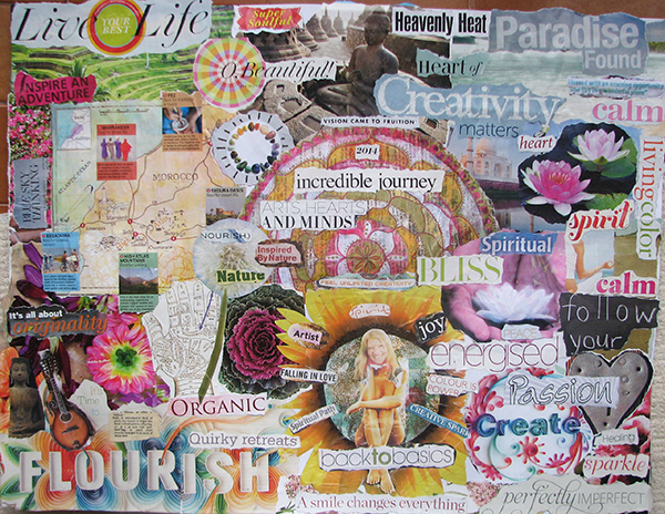 visionboard 2014 goals, dreams