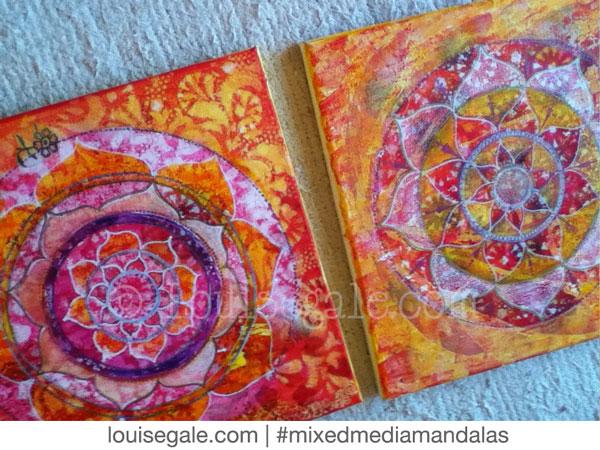 sacral chakra solar plexus yellow orange mixed media mandala