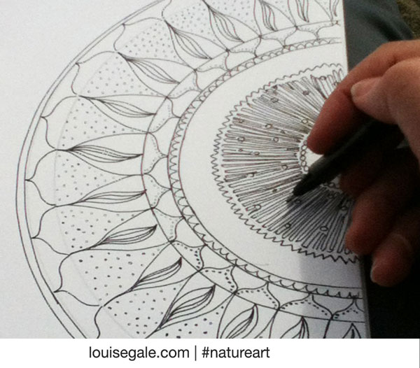 Sketchbook sneak peek: Hibiscus buds and mandala doodle