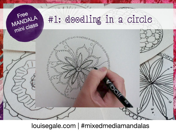 Free mandala class part 1: Introduction and Doodling in a circle