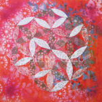 Flower of Life mandala Mixed media