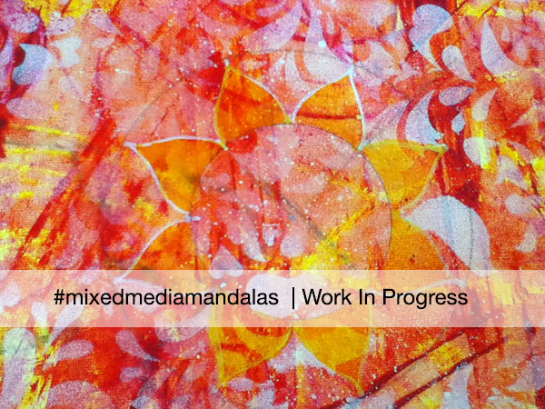sunset Mandala work in progress