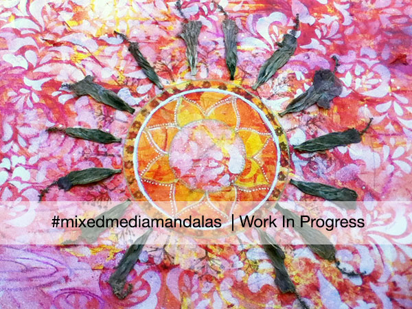 sunset Mandala work in progress