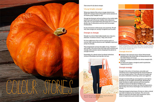 Published! Orange colour stories in Moyo magazine