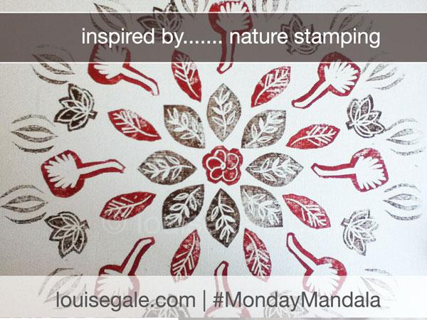 Nature Stamping {Monday Mandala}