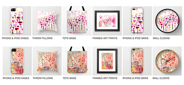 New Watercolour paintings and products AND Free Worldwide Shipping – TODAY ONLY