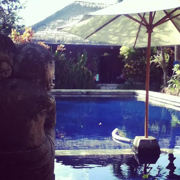 Pool and villa Bali