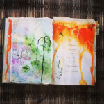 Altered Book beginnings ©Louise Gale