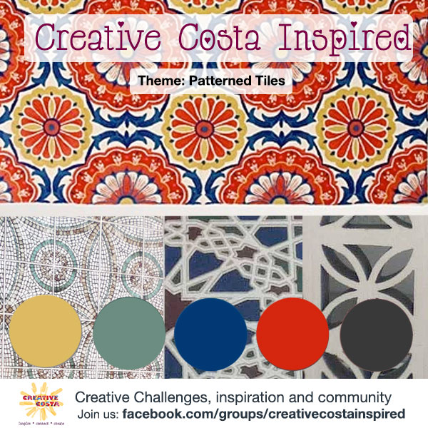 August 2014 Creative Challenge Gallery {Spanish tiles}