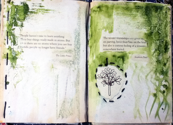 book_green pages © Louise Gale