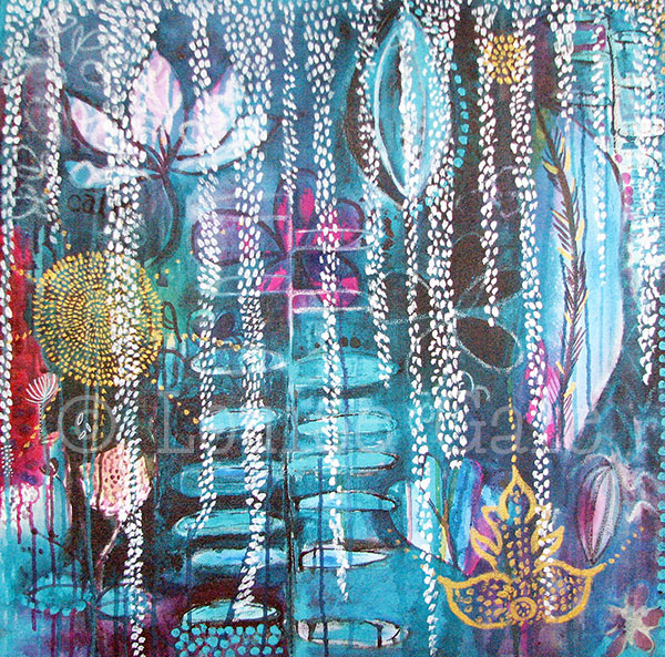 Bali expressions painting ©Louise Gale