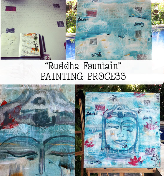"Bali: Start to finish painting ""Buddha Fountain"""