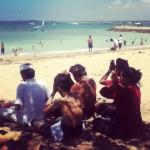 Praying on the beach in Bali