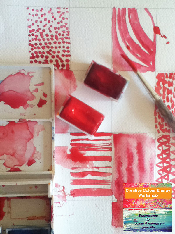 red colour play pages colour energy workshop ©Louise Gale
