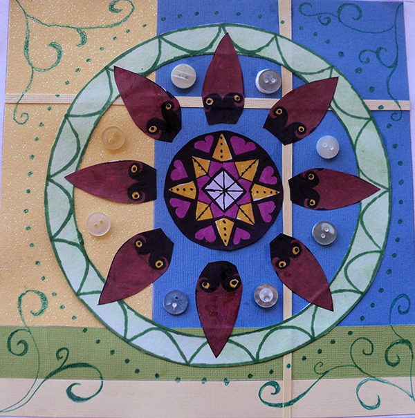 Barbara Crompton Collage Mandala